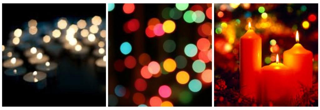 luci e candele di natale